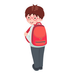 school boy character isolated on white vector image