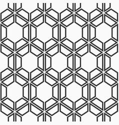 seamless geometric pattern of hexagons vector image