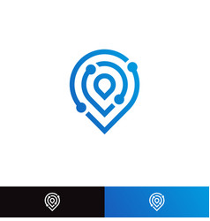 search engine tech logo concept logotype vector image