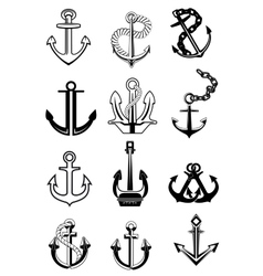 Ship anchors set vector image
