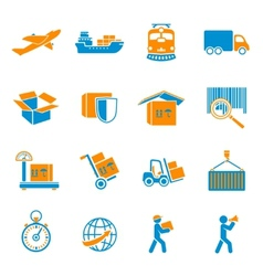 shipping delivery icons set vector image
