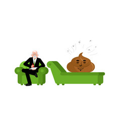 shit at reception with psychologist consultation vector image