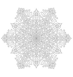 Snowflake colouring page vector