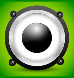 Speaker over soft green background vector