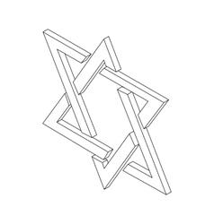 Star of david icon isometric 3d vector