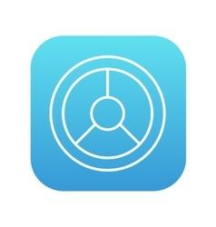 Steering wheel line icon vector image