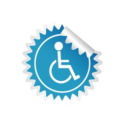 sticker paralyzed man icon vector image