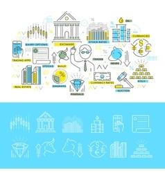 Stock Exchange Linear Concept vector