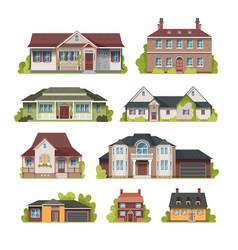 suburban house set vector image