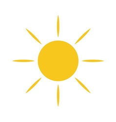 Sun icon Light sign yellow vector