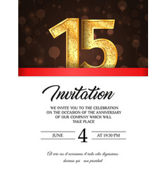 Template of invitation card to the day vector