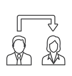 Thin line employee icon vector