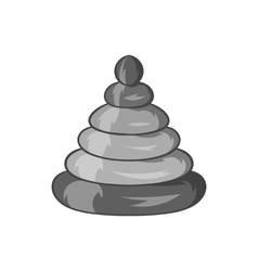 Toy pyramid icon black monochrome style vector image
