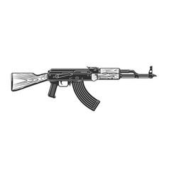 Vintage shooting gun concept vector