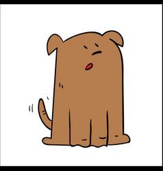 a cartoon dog looking shocked surprised vector image vector image