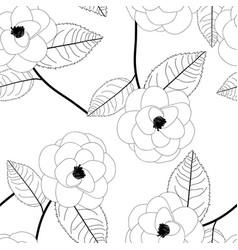 Camellia flower on white background vector