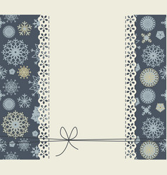 cute background with snowflakes for happy new vector image