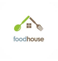 food house spoon logo vector image