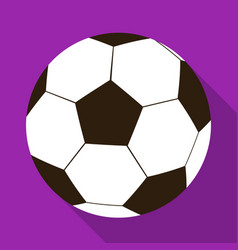 football ball icon in flat style isolated on white vector image