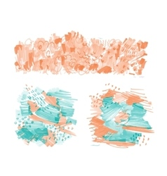Hand-drawn marker stains vector image