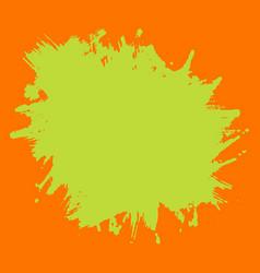 Print template green neon splash on orange vector