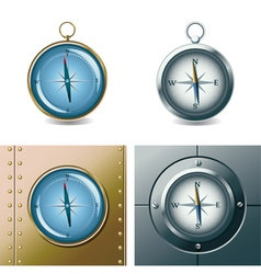 set of different compasses vector image