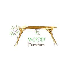 wood interior logo vector image