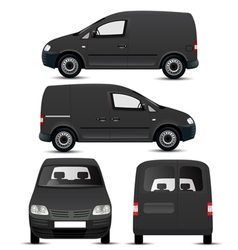 Black Commercial Vehicle Mockup vector image