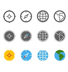 Different circle travel icons clip-art vector image vector image