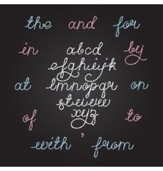 Handwritten chalkboard alphabet vector image