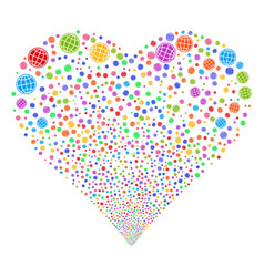 internet fireworks heart vector image vector image