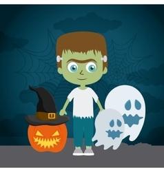 Happy halloween festival party design vector