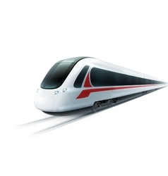 High-Speed Train Realistic Isolated Image vector image