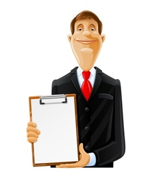 man with clipboard vector image vector image