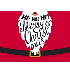 Merry Christmas greeting card template design vector image vector image