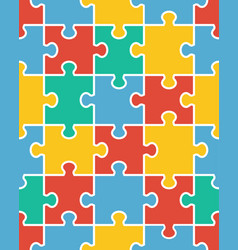 seamless colorful puzzle vector image