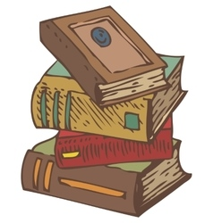 Stack of Old Books vector image vector image