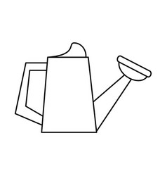 watering can garden tool thin line vector image vector image