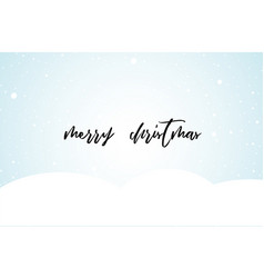 christmas clean background with snow and lettering vector image vector image