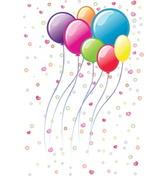 colourful balloons vector image vector image