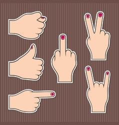 Fingers form signs vector image vector image