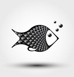 fish abstract pattern vector image