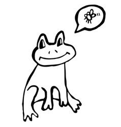 frog doodle vector image