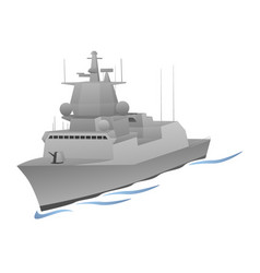 naval warship graphic vector image