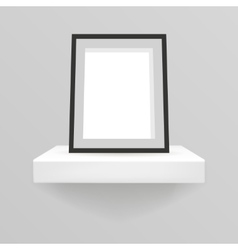 realistic design shelf hanging on a wall 3d with vector image vector image