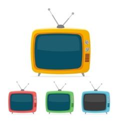 retro tv set Flat Design vector image vector image