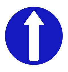 Road sign arrow go straight vector