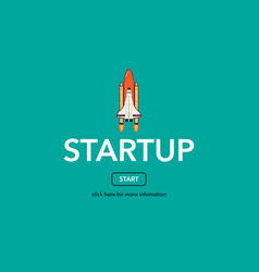 start up business web concept vector image