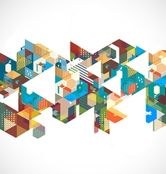 Abstract retro and creative with geometric vector image