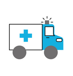 ambulance vehicle transport urgency help accident vector image